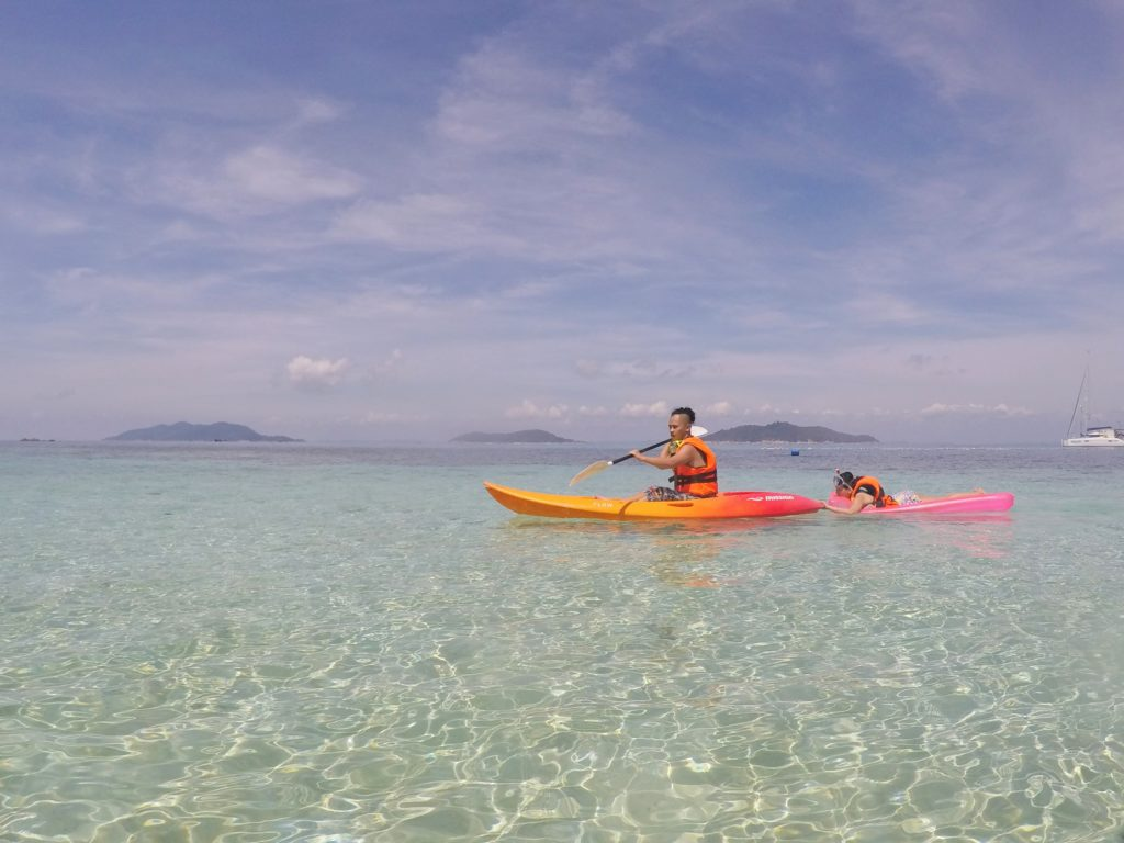 Kayaking is also possible on Pulau Rawa