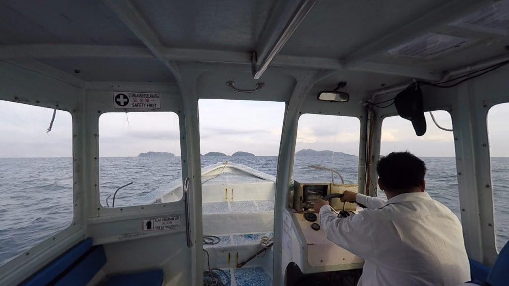 Approaching Pulau Sembilan (Pulau Lalang to be exact)