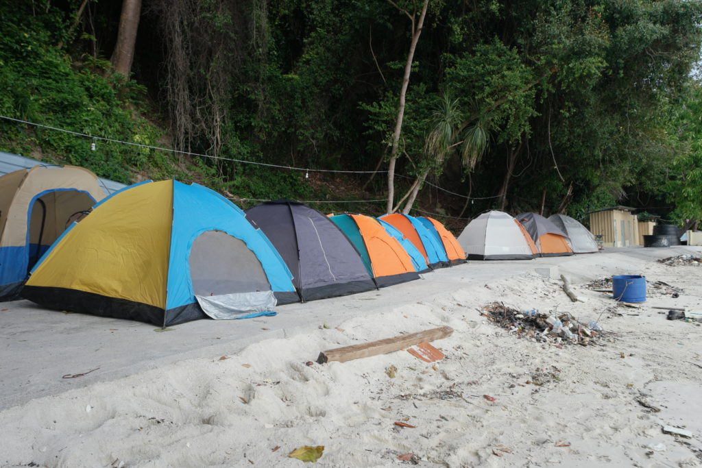 Due to conservation of the State, no resorts are allowed to be built here. Only tents
