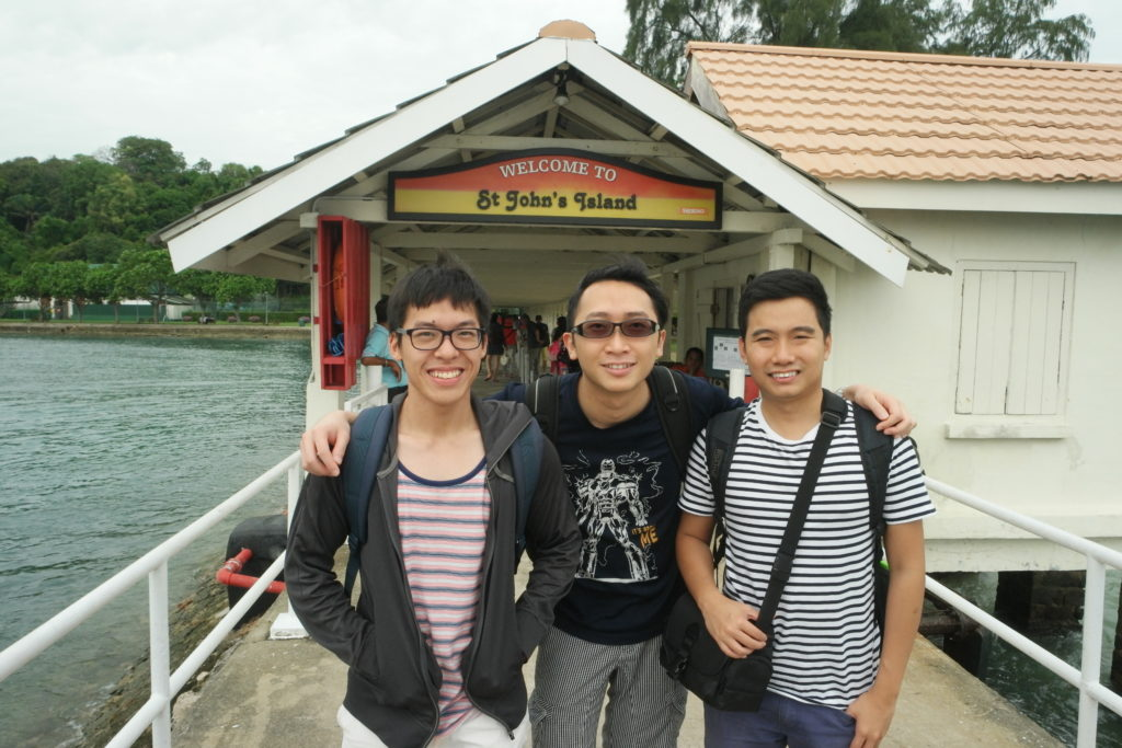 Arrived at St. John's Island with Quan Yen and Eugene