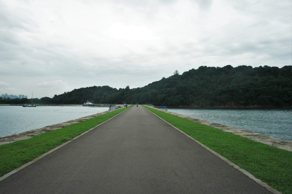 """Lazarus Island is well connected to St. John's Island via this """"runway"""""""