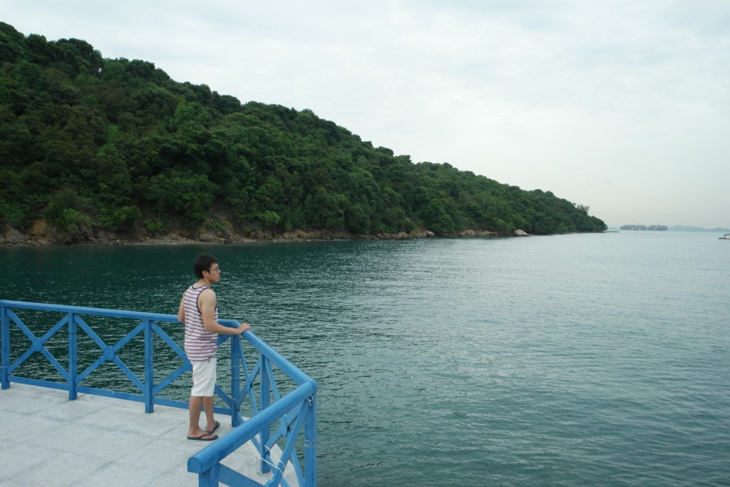 Lazarus Island at the background