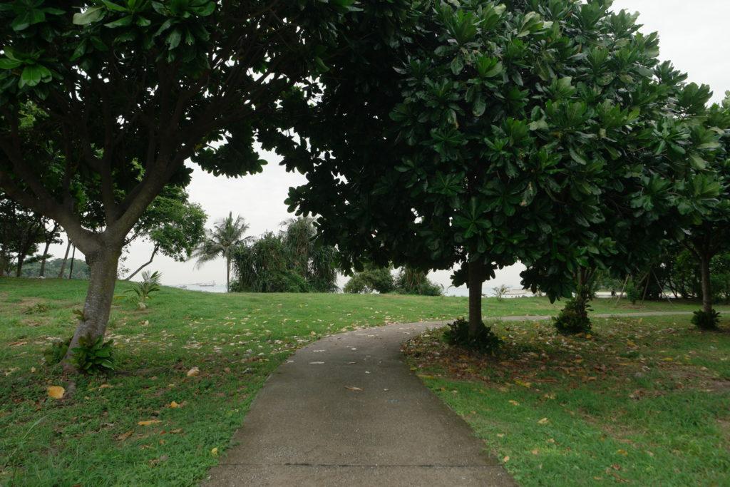 Heading towards the lagoon beach at the back of Lazarus
