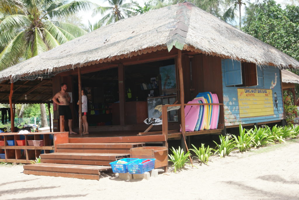 The Dive Base. This is where you sign up for their various excursion trips
