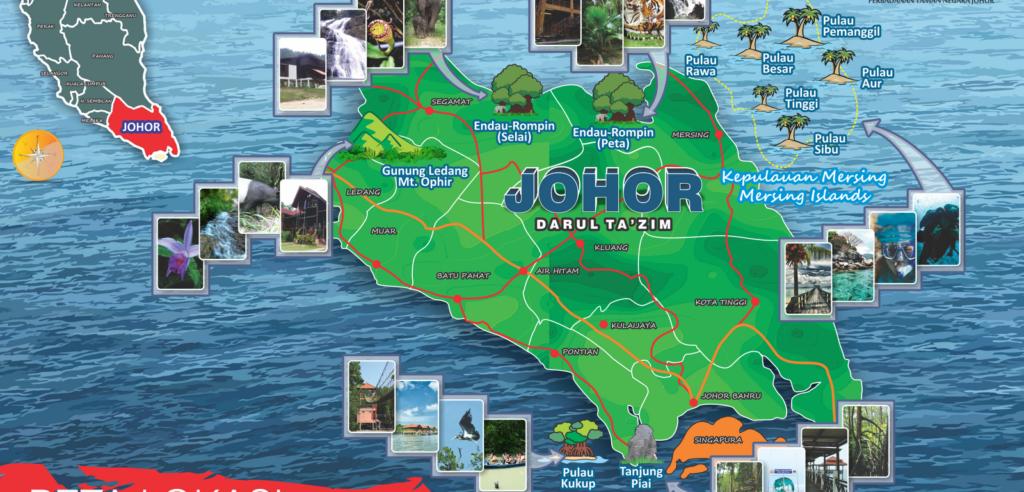 Map of Johor. Map Credits: https://sacjb2015.wordpress.com/about-johor/